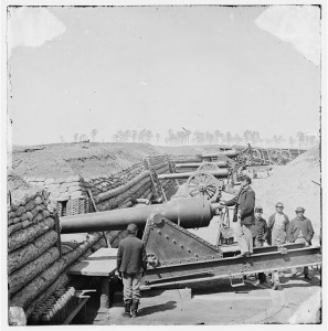 Fort Brady on the James River in Bermuda Hundred, Va. My ancestor's 6th NYHA regiment was stationed here during the last naval battle of the U.S. Civil War. Image:  Library of Congress
