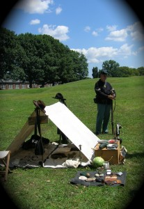 Aug. 2014: Union encampment on Governors Island, N.Y.