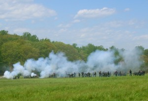 May 2014: Artillery reenactors at Spotsylvania Courth House, Va.