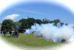 August 2014: Union artillery reenactors. Consider this a one-gun salute on the First Blogiversary of Molly's Canopy -- 24 April 2015. Photo: Molly Charboneau