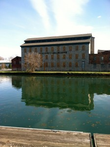May 2015: Seneca Knitting Mills, Seneca Falls, N.Y. The Empire State  has a long history of anti-slavery activism and sent more Union troops than any other state. Many upstate New York woolen mills, like this one on the  Cayuga-Seneca Canal dating to 1844, were established as an alternative to processing slave-grown cotton. Photo by Molly Charboneau